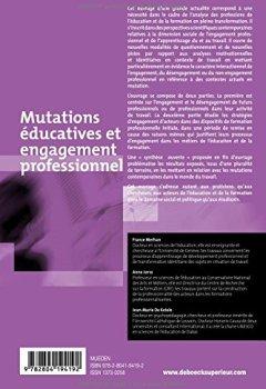Livres Couvertures de Mutations éducatives et engagement professionnel