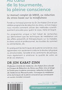 Livres Couvertures de Au coeur de la tourmente, la pleine conscience : MBSR, la réduction du stress basée sur le mindfulness : programme complet en 8 semaines