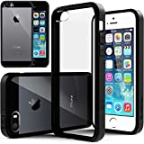 "<a class=""alrptip"" href=""http://pixelpinch.com/2011/05/android-vs-ios-iphone/"" data-recalc-dims=""1"" />iPhone</a> 5S case, Caseology&reg; [Clear back Bumper] [Black] DIY Customization Fusion Hybrid Cover [Shock Absorbent] Apple iPhone 5S case"