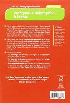 Livres Couvertures de Pratiquer le débat-philo à l'école (nouvelle édition conforme aux programmes 2016)