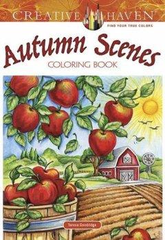 Livres Couvertures de Creative Haven Autumn Scenes Coloring Book