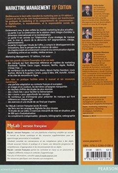 Livres Couvertures de Marketing Management 15e édition : Livre + eText + MyLab : version française Licence étudiant 36 mois