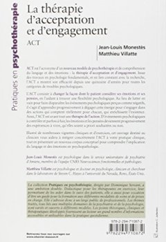 Livres Couvertures de La thérapie d'acceptation et d'engagement, ACT