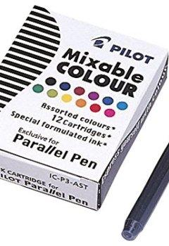 Livres Couvertures de Pilot  Lot de 12 cartouches d'encre pour stylos Parallel (12 couleurs)