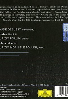 Livres Couvertures de Debussy: Préludes II (CD Digipack - Tirage Limité)