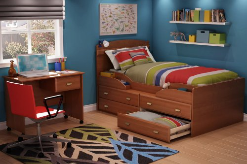Image of Twin Size Kids Bedroom Furniture Set 72 in Morgan Cherry - Imagine - South Shore Furniture - 3576-BSET-72 (3576-BSET-72)