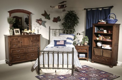 Image of 490 American Spirit Off Black Metal Bedroom Set by Legacy Classic Kids (B0030NEO0Q)