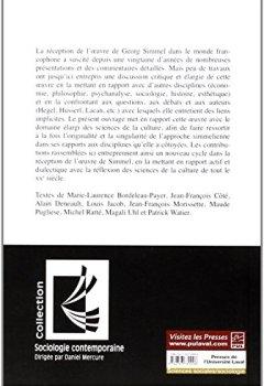 Livres Couvertures de Georg Simmel et les sciences de la culture