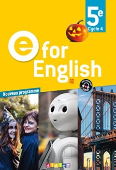 Livres Couvertures de E for English 5e (éd. 2017) - Livre