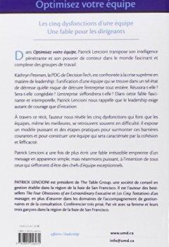 Livres Couvertures de OPTIMISEZ VOTRE EQUIPE - LES CINQ DYSFONCTIONS D'UNE EQUIPE UNE FABLE POUR LES DIRIGEANTS