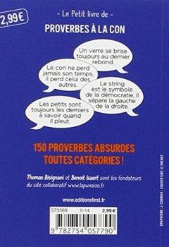 Livres Couvertures de Petit livre de - Proverbes à la con