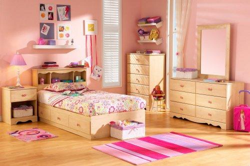 Image of Kids Bedroom Furniture Set in Romantic Pine - South Shore Furniture - 3272-BSET-1 (3272-BSET-1)