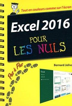 Livres Couvertures de Excel 2016 Pas à pas pour les Nuls