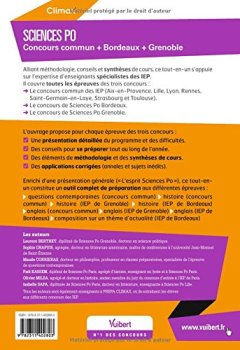 Livres Couvertures de Concours Sciences Po 2017 - Concours commun des IEP + Bordeaux + Grenoble - Réussir toutes les épreuves