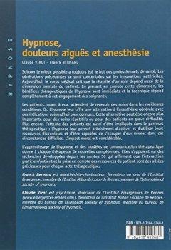 Livres Couvertures de Hypnose, douleurs aiguës et anesthésie