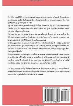 Livres Couvertures de CANCER : Les Thérapies dont votre Oncologue ne Vous Parlera Jamais: Livre 1 : La Thérapie Nutritionnelle du   Dr. Gerson