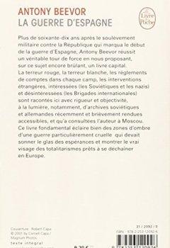 Livres Couvertures de La guerre d'Espagne