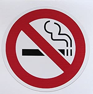 禁煙 【No Smoking】  防水 ステッカー(シール)   3枚セット