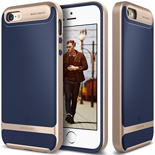 iPhone-SE-Case-Caseology-Wavelength-Series-Textured-Pattern-Grip-Cover-Navy-Blue-Shock-Proof-for-Apple-iPhone-SE-2016-iPhone-5S-5-2013-Navy-Blue