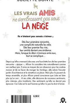 Livres Couvertures de Les vrais amis ne s'embrassent pas sous la neige: une comédie romantique idéale pour les fêtes de Noël !