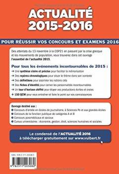 Livres Couvertures de Actualité 2015-2016 - Concours et examens 2016 - Tous les évènements incontournables