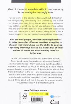 Livres Couvertures de Deep Work: Rules for Focused Success in a Distracted World