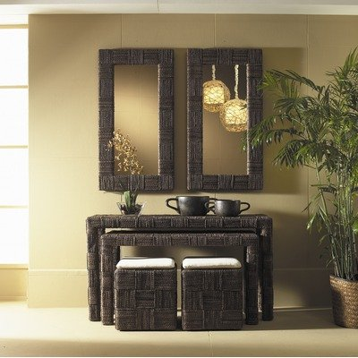 Image of Nesting Console Table in Abaca Twist - Set of 2 (NES07-ABS)