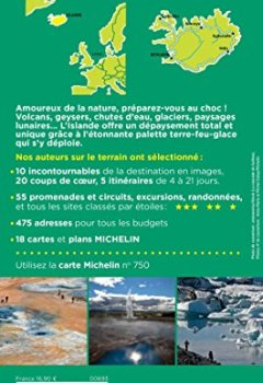 Livres Couvertures de Guide Vert Islande Michelin