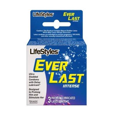 Lifestyles Everlast Intense Condoms, 3 Count, Pack of 6 ...