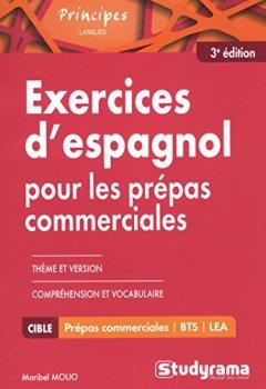 Livres Couvertures de Exercices d'espagnol pour les prépas commerciales