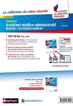 Livres Couvertures de Concours Assistant médico-administratif