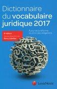 Livres Couvertures de Dictionnaire du vocabulaire juridique