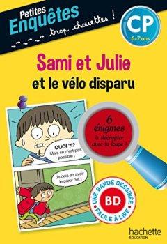 Livres Couvertures de Sami et Julie et le vélo disparu CP et CE1 - Cahier de vacances