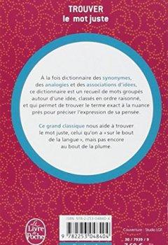 Livres Couvertures de Dictionnaire des idées suggérées par les mots : trouver le mot juste