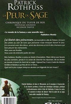 Livres Couvertures de Chronique du Tueur de Rois, deuxième journée T02 La Peur du sage - seconde partie