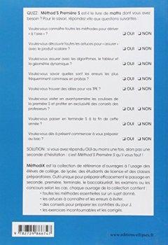 Livres Couvertures de Mathématiques Méthod'S Première S Conforme au Programme 2011