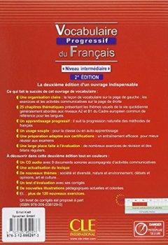 Vocabulaire progressif du français - Niveau intermédiaire (2ème édition) A2/B1. Livre avec 375 exercices + Audio-CD de Indie Author