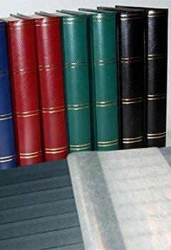 Livres Couvertures de Album pour timbres, 60 pages, intérieur noir (couv. Rouge)