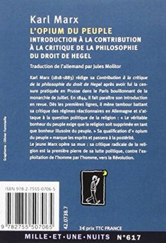 Livres Couvertures de L'Opium du peuple: Introduction de la Contribution à la critique de la philosophie du droit de Hegel