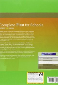 Livres Couvertures de Complete First for Schools Workbook with Answers with Audio CD-