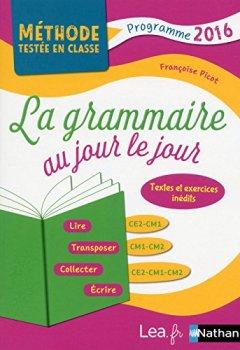 Livres Couvertures de La Grammaire au jour le jour - Contenus année 2
