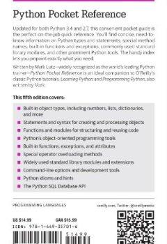 Livres Couvertures de Python Pocket Reference 5ed
