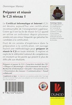 Livres Couvertures de Préparer et réussir le C2i niveau 1