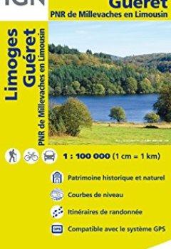 Livres Couvertures de Top100147 Limoges/Gueret 1/100.000