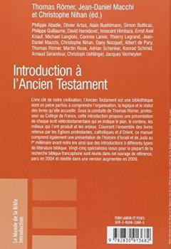 Livres Couvertures de Introduction à l'Ancien Testament