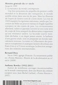 Livres Couvertures de Histoire générale du XXe siècle, tome 2