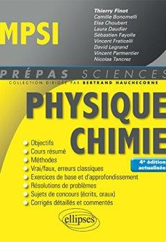 Livres Couvertures de Physique-Chimie MPSI - 4e édition actualisée