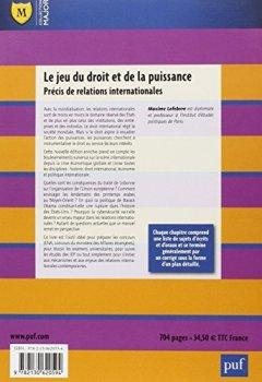 Livres Couvertures de Le jeu du droit et de la puissance : Précis de relations internationales