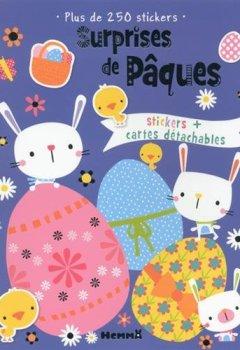 Livres Couvertures de Surprises de Pâques - Activités avec stickers + cartes détachables