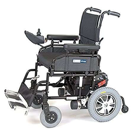 "Wildcat Folding Power Wheelchairnon-marking tiresProgrammable controller with common connectorsStandard anti-tip wheels for added safetyLightweight steel frame can be folded to a compact 13"" width for easy portabilityAdjustable length controller moun..."